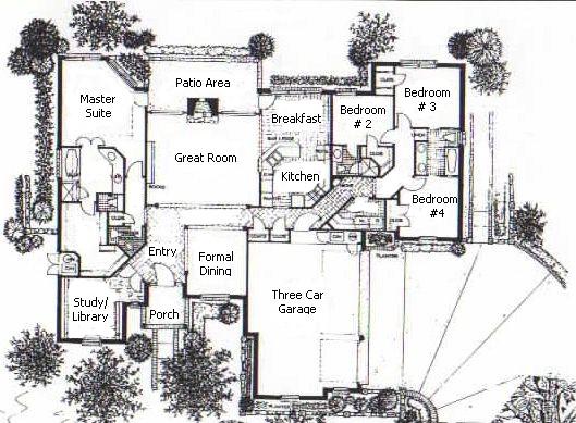 The slaterton home plan biltmore homes of tulsa for House plans tulsa